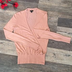 ANN TAYLOR WOMAN SWEATER SIZE M ROSE CLOUD PINK